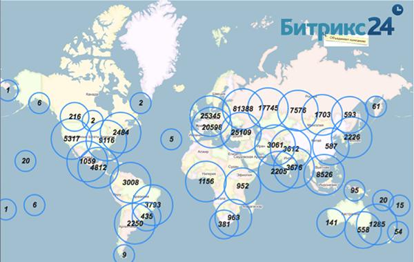 Карта Битрикс24