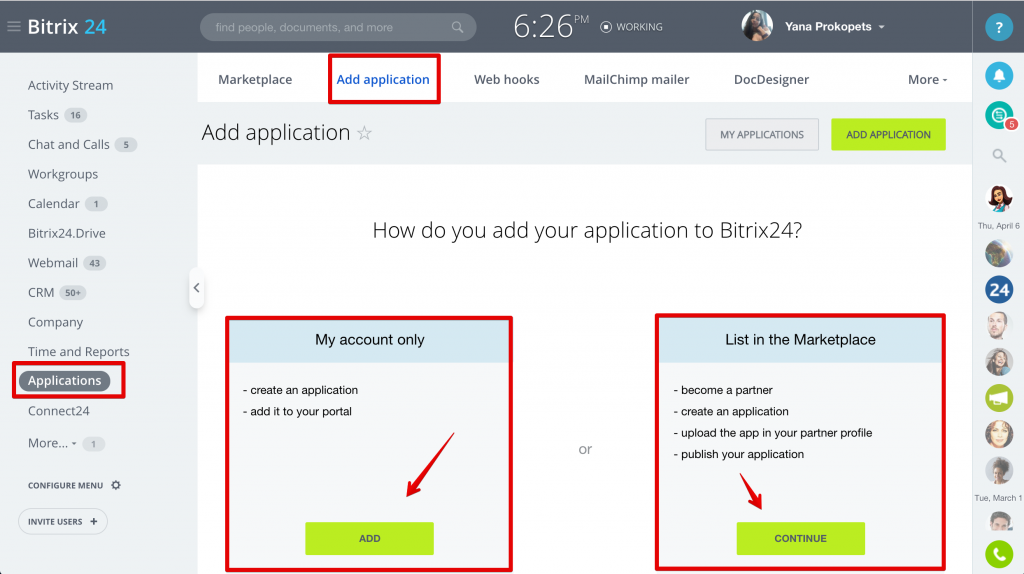 How To Add New Apps To Bitrix24 Rest Api