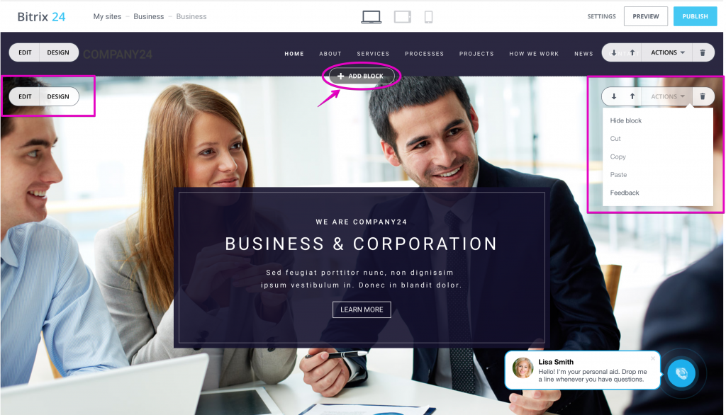 Bitrix24.Sites