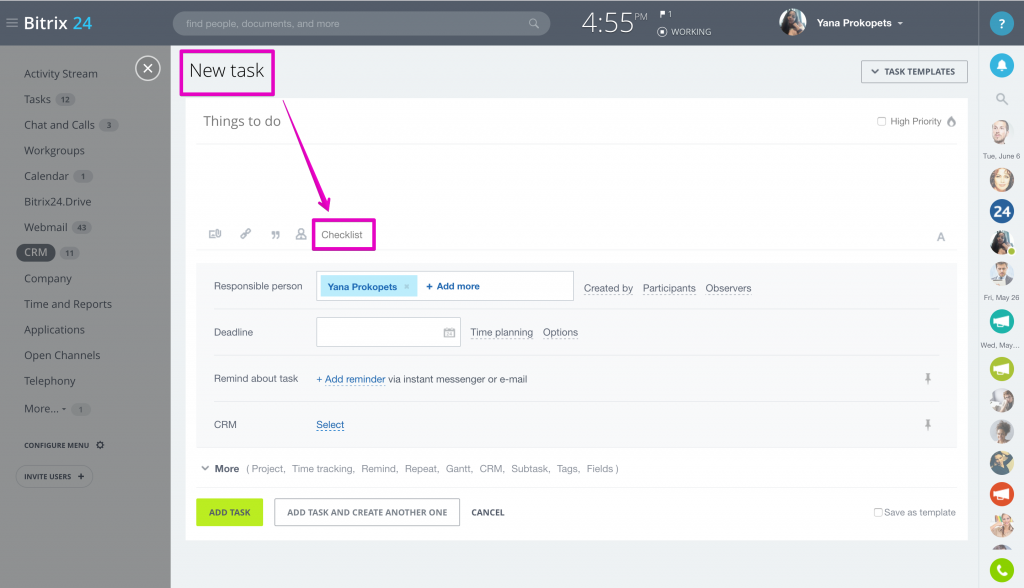 Bitrix24 google tasks ссылка показать еще битрикс