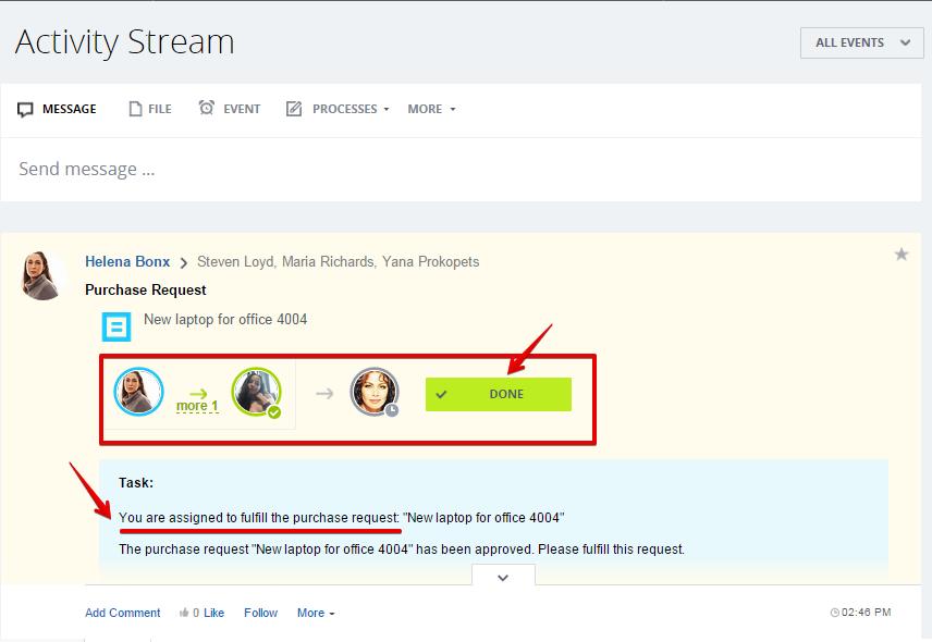 [Workflows] Activity Stream: Yêu cầu mua hàng 15