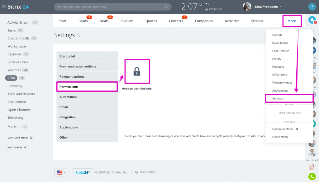 Access Permissions in CRM