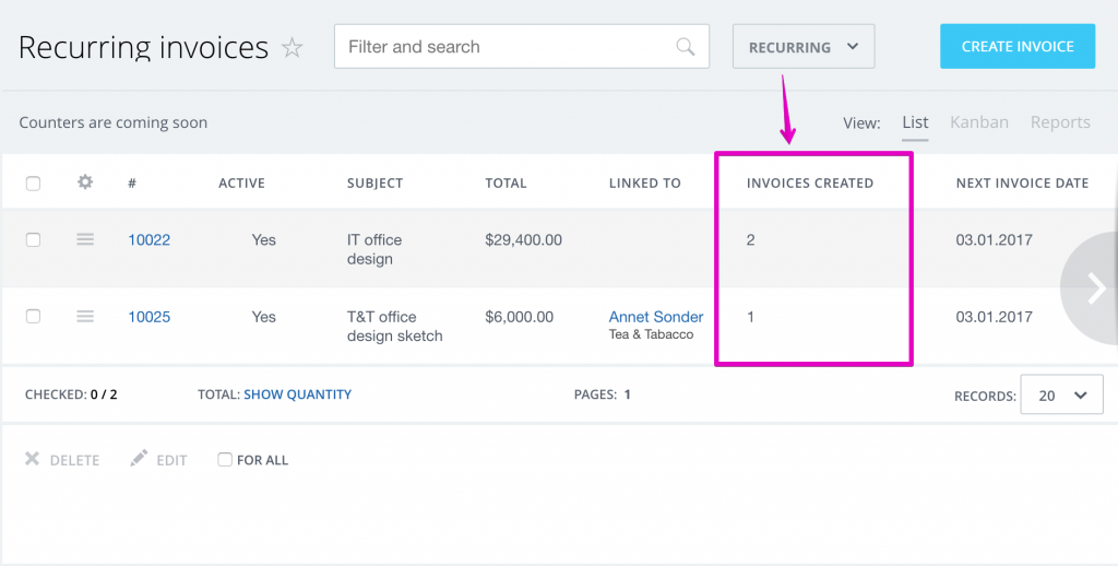 create invoice template